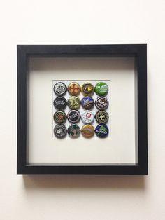 Love craft beer? Hand select your personal faves with the Custom Craft Beer Cap Shadowbox by shopcrafted on Etsy, $30.00