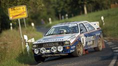 Dont think I have ever seen a Rothmans Audi. Wow it looks good. Courtesy of Mcklein rally photos