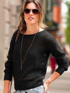 Open-stitch Sweater .... Cute sweater....