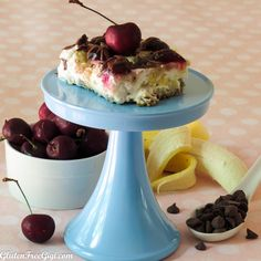 No Bake Banana Split Dessert ~ free from gluten, dairy, soy, peanuts, tree nuts, eggs, grains/vegan/paleo Delish!!