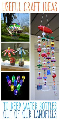 Useful craft ideas to keep plastic water bottles out of our landfills