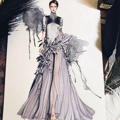 Fashion illustration by @eris_tran  fashion sketch, drawing, art #sketch #fashionsketch