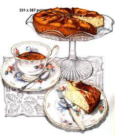 Teatime - cross stitch
