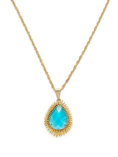 A teardrop pendant necklace- to match the bridemaids to the bride.  (Kendra Scott Jewelry at gilt.com)