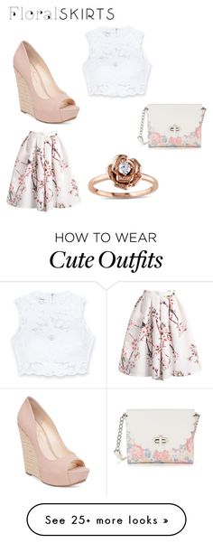 """Cute summer outfit"" by caydence28 on Polyvore featuring Bebe, Jessica Simpson, Candie's, Amour and Floralskirts"