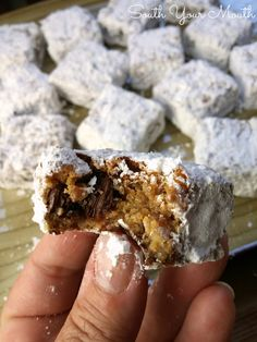 Man Bar Recipe from South Your Mouth. The ultimate Father's Day food right here. And covered in powdered sugar - count me in!!
