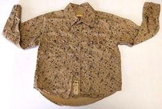 Larry Mahan Boys Brown Tan Paisley Cowboy Western Snap Button Shirt Rodeo Small #LarryMahan #Everyday