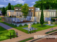 The Sims Resource: Modern Living residential house by FarynGal • Sims 4 Downloads