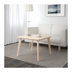 IKEA - LISABO, Coffee table, , The table surface in ash veneer and legs in solid birch give a warm, natural feeling to your roomEasy to assemble as each leg only has one fitting.Ash is a natural durable material. The surface has been made even more durable by a protective coat of lacquer, which also helps it keep its natural wood feel.Each table has its own unique character due to the distinctive grain pattern.