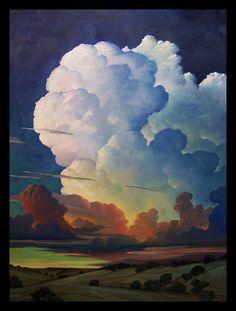 Buy Paintings, Landscape Paintings, Nature Paintings, Landscape Art, Cloud Art, Sky And Clouds, Artist Painting, Impressionist, Illustration Art