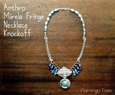 DIY Necklace  : DIY Anthro Mirela Fringe Necklace Knockoff