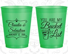 Frosted Wedding Cups, Shatterproof Cups, Frost Flex Cups, Custom Frosted Cups, Frosted Plastic Cups, Personalized Frosted Cups (396)