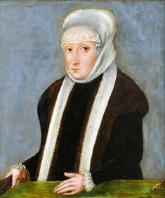 Miniature of Isabella Jagiellon, Queen of Hungary by Lucas Cranach the Younger, ca. 1553 (PD-art/old), Muzeum Czartoryskich
