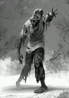zombie by ChrisRallis on DeviantArt Zombie Pose, Zombie Art, Dead Zombie, Penguin Books, Zombies, Zombie Apocolypse, Zombie Attack, Horror Artwork, Horror Monsters