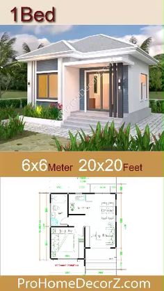 Bungalow Haus Design, Small Bungalow, Modern Bungalow House, Bungalow House Plans, Tiny House Cabin, Simple Bungalow House Designs, Narrow House Designs, Modern Small House Design, Simple House Design