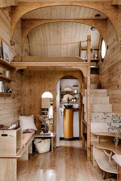 Tiny wood home with terrace Cozy Cabin, Dream Decor, Large Windows, House In The Woods, Perfect Place, Tiny House, Terrace, Small Spaces, Sweet Home