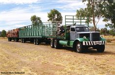 This was an ex military Diamond T and was operated by Kurt Johannsen who was one of the road train pioneers that opened up the interior of Australia. This vehicle is also fully restored and in working order at the Museum at Alice Springs. Train Truck, Road Train, Antique Trucks, Vintage Trucks, New Trucks, Custom Trucks, Alice Springs, Old Tractors, Classic Trucks
