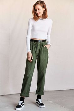 Vintage Army Green Work Pant - Urban Outfitters