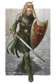 """This is from an entire tumblr called """"Women Fighters in Reasonable Armor."""" It's good stuff - @Chiron MacDonald, you'd like it."""