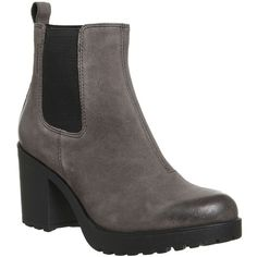 Vagabond Vagabond Grace Heeled Chelsea Boots ($86) ❤ liked on Polyvore featuring shoes, boots, ankle booties, chunky black booties, black block heel booties, chunky black boots, black ankle bootie and short black boots