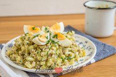Ze zijn er weer! De Opperdoezer Ronde is niet zomaar een pieper. Ik maak er een heerlijke aardappelsalade van met ei en honing-mosterddressing.