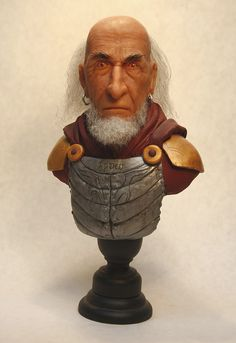 "Wizard Warrior. Super Sculpey direct sculpt. About 8"" tall"