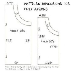 trendy sewing for beginners apron children Childrens Apron Pattern, Child Apron Pattern, Apron Pattern Free, Childrens Aprons, Sewing Patterns Free, Free Sewing, Vintage Apron Pattern, Pattern Sewing, Dress Patterns