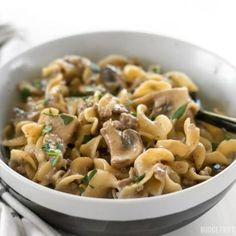 This super easy one pot Beef & Mushroom Stroganoff is a delicious and comforting weeknight dinner that requires just a few ingredients. Step by step photos.
