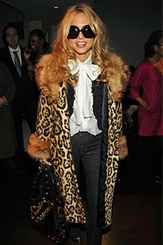 Rachel Zoe - Love the jeans, bow blouse & black cardi layers and that coat is so me
