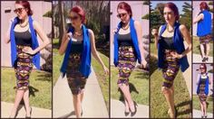 Printed Pencil Skirt by CALI WEST BOUTIQUE What I wore…   Sunglasses: American Vintage (Fullerton, CA) Necklace: Vintage Vest: Pins & Needles Skirt: Cali West Boutique Ring: Saks Fifth Avenue...