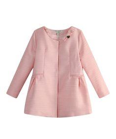 Richie House Pink Tweed Bow Jacket - Toddler & Girls | zulily
