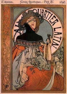 Au Quartier Latin ~ Alfons Mucha 1898