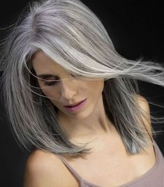 60 Gorgeous Gray Hair Styles beautiful hairstyle for gray hair Long Gray Hair, Silver Grey Hair, Dark Hair, Wig Hairstyles, Straight Hairstyles, Medium Hairstyles, Hairstyle Ideas, Hairstyles Pictures, Fashion Hairstyles