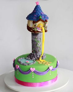 Rapunzel cake. If I was a child I would definitely have one!!
