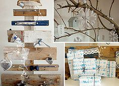 Get the Look Decor: Simple Pleasures on Etsy - LOVE the wooden Christmas Tree!!