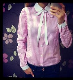Women Slim Business OL Plaids Checks Shirt Peter Pan Collar OL Bow Style Shirt Long Sleeve Turn-down Collar Button Blouse Tops Junior Outfits, Trendy Outfits, Cheap Online Clothing Stores, Womens Trendy Tops, Peter Pan Collar Dress, Business Shirts, Plus Size Shirts, Party Tops, Chemises