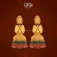 Gold Lakshmi Jhumka from GRT