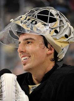 OCTOBER 5:  Marc-Andre Fleury #29 of the Pittsburgh Penguins