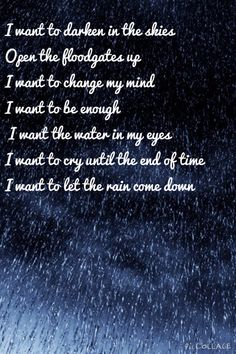 Let The Rain by Sara Barrielles- superb song with fantastic lyrics- great  for rainy days 7b665b6f6ec8