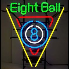 Snooker Pool Billiards 8 Ball Beer Bar Neon Light Sign x Neon Lighting, Bar Lighting, Neon Light Signs, Neon Signs, Metal Grid, Billiards Pool, Beer Bar, Business Signs, Signage