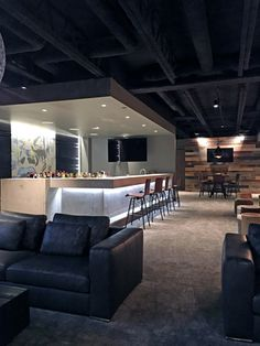 30 Extraordinary Affordable Man Cave Garages Ideas Plan Your Dream Garage 8 Man Cave Garage, Man Cave Basement, Basement House, Man Cave Room, Basement Bars, Exposed Basement Ceiling, Industrial Basement, Basement Ceiling Painted, Basement Ceilings