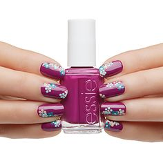 picking wildflowers by essie - chic in full bloom. make a statement with this spring nail art design.