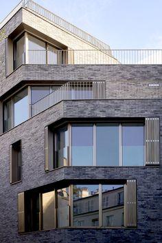 Garden Architecture, Architecture Design, Angles, Brick Facade, Construction, Building Exterior, Affordable Housing, Winter Garden, Raised Beds
