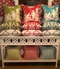 - Palm Beach - Color Stacks - Coastal Pillows   Beach Pillows
