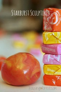 Edible Sculptures ~ Create Art with Starburst Candy Great idea for after Halloween project , something to do with all that leftover candy