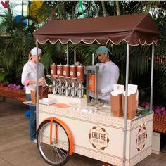 CHUCRÊ - Churros Gourmet Food Trucks, Coffee Carts, Coffee Shop, Mobile Food Cart, Food Cart Design, Bike Food, Food Kiosk, Ice Cream Cart, Candy Cart