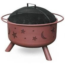 Landmann Big Sky Stars And Moons Fire Pit With Georgia Clay Finish