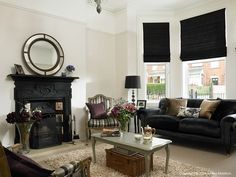 The sitting room in Laura & David Menary's Victorian townhouse in Holywood, County Down.