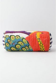 Bolster Pillow with Peacock Color Splash, Color Pop, Anthropologie Bedding, Peacock Pillow, Bolster Pillow, Pillow Talk, Diy Home Decor, Decorative Pillows, Sunglasses Case