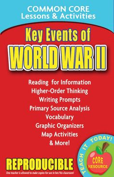 Key Events of World War II: Common Core Lessons & Activities Price:$4.99